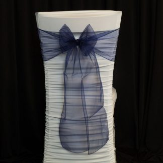 organza chair sashes - Navy Blue