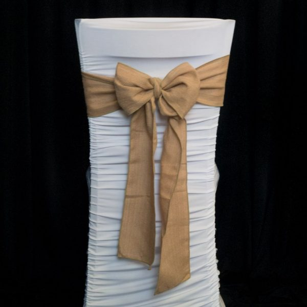 Hessian Chair Sash - Narrow