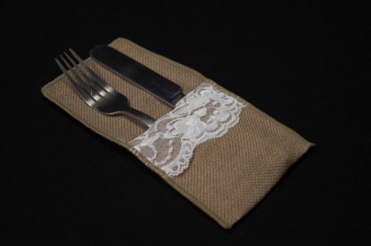 Hessian Cutlery Holder