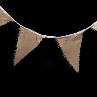 Hessian Bunting Flags