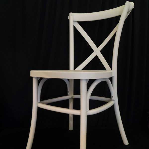 Cross Back Chair - White