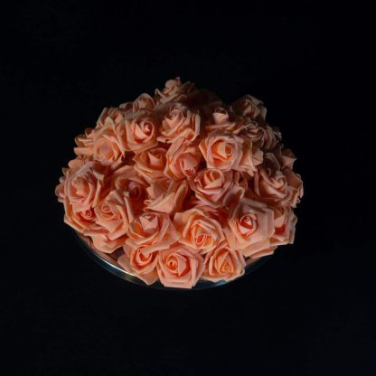 Peach FFoam Rose Heads
