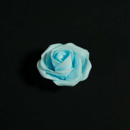 Light Blue Foam Rose Heads