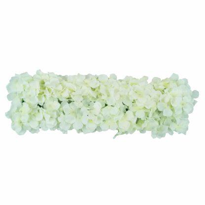 Flower Wall Edging - White Hydrangea