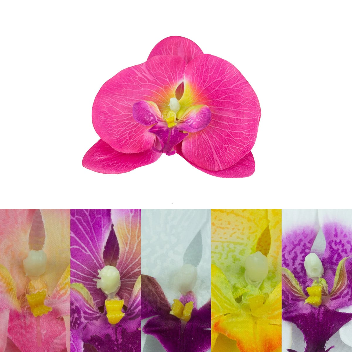 High Quality Artificial Orchid Flower Heads Wholesale