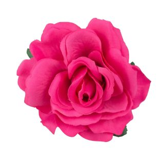 Artificial Rose Heads Top - Fuchsia