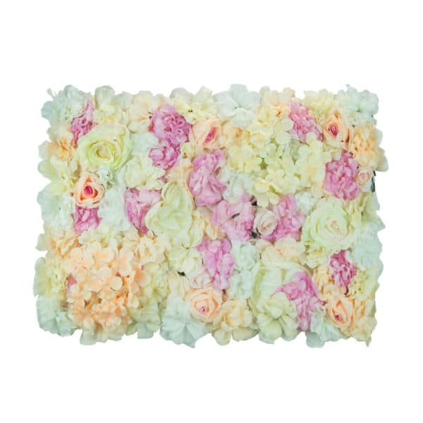 High Quality Mixed Flower Wall - White, Pink and Apricot