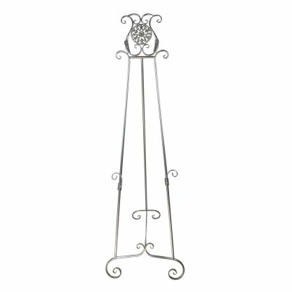 ornate metal display easel - E11 Silver