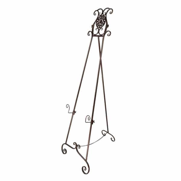 ornate metal display easel - E12 Metallic Brown