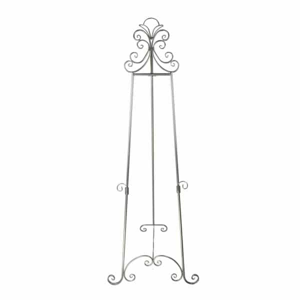 ornate metal display easel - E7 Silver