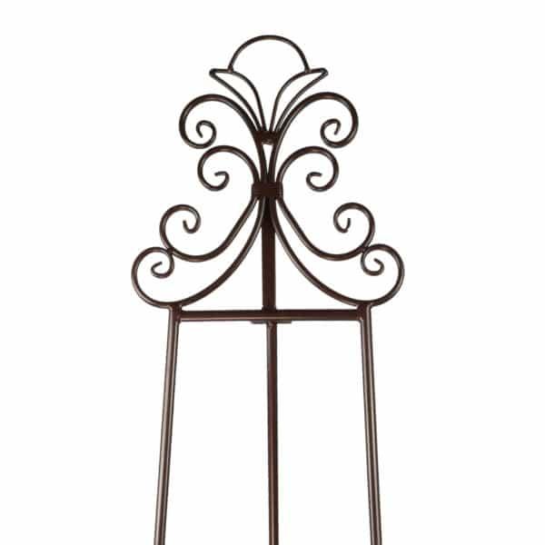 ornate metal display easel - E8 Metallic Brown
