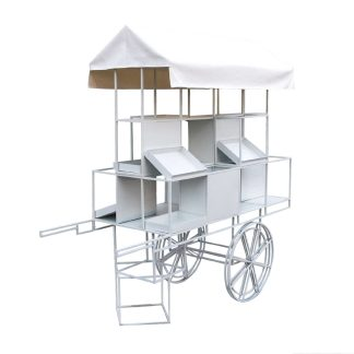 Flower Cart - White
