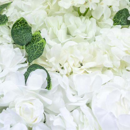 White With Greenery Flower Wall Panels FW070