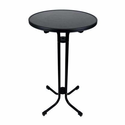 Folding Dry Bar Table Black