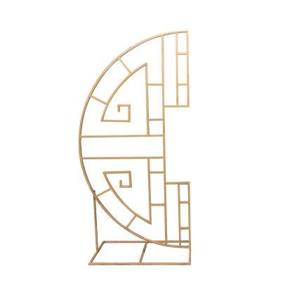 Metal Arch - Ornate Circle Gold