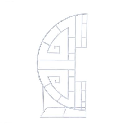 Metal Arch - Ornate Circle White