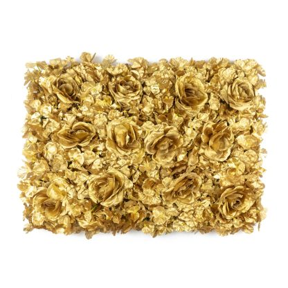 Rose Flower Wall Panels - Gold FW079