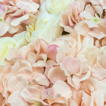 Mixed Pink and White Flower Wall FW078