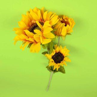 Sunflower Stem - 3 Head 66cm
